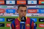Sergiño Dest disputou seu primeiro duelo entre Barcelona e Real Madrid. Captura/Movistar