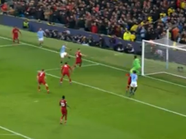 Aguero scored once more against Liverpool to give City the lead. CAPTURA/NBC