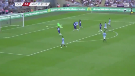 Aguero slid home to put daylight between the sides. Screenshot/BeINSports