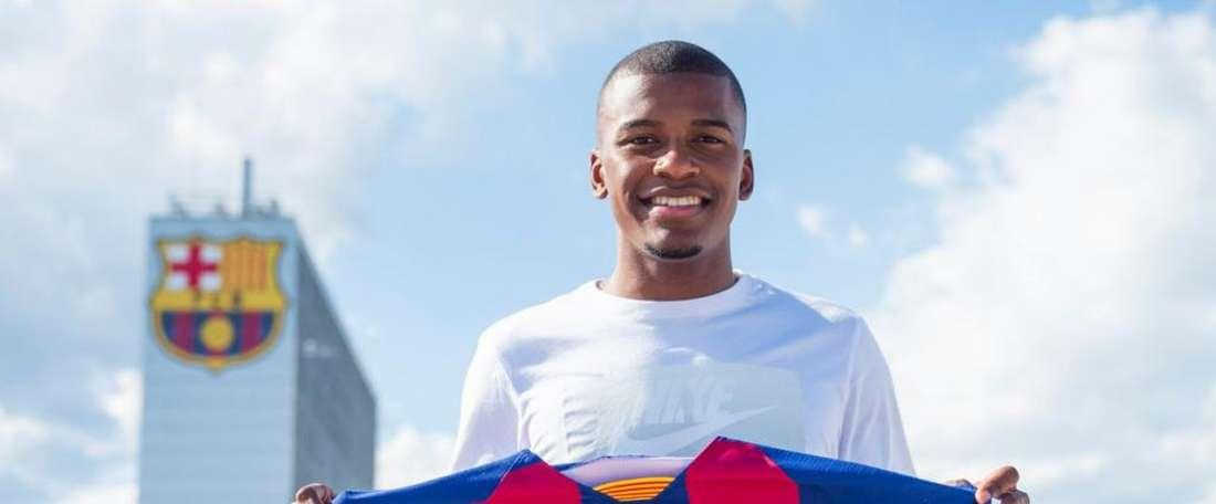 Akieme é o novo reforço do time B do Barça. FCBarcelona