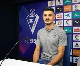 Sergio Álvarez llega con ganas. Twitter/SDEibar
