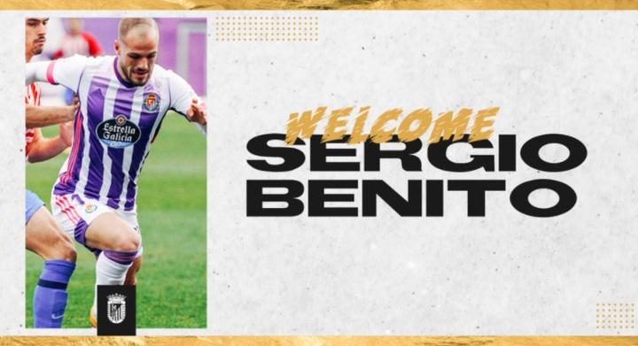 Sergio Benito jugará cedido una temporada en el Badajoz. Captura/CDBadajoz