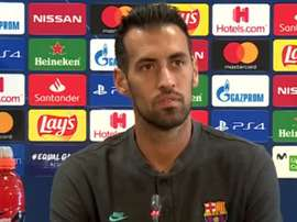 Busquets analysed the clash with Napoli. Captura/Movistar