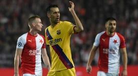 Tensão no vestiário do Barça. AFP