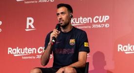 El futuro de Busquets en el Barça no peligra. Twitter/FCBarcelona