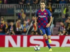 Busquets fica sem palavras para descrever Messi. FCBarcelona