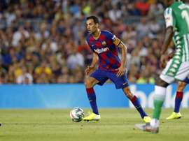 Busquets got booked. Twitter/FCBarcelona_es