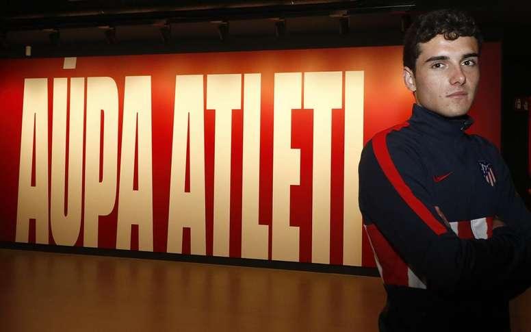 Sergio Camello, hasta 2024. Twitter/AtletiAcademia