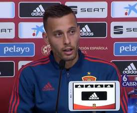 Canales after his first selection for Spain. Captura/seFutbol