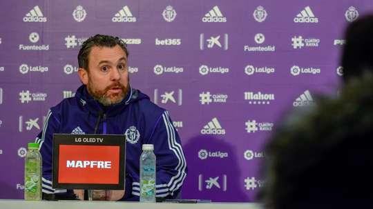 Sergio salió con una sonrisa de Valencia, pero con sabor agridulce. Twitter/RealValladolid