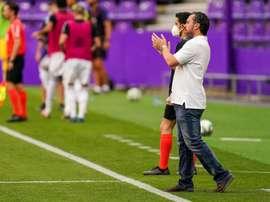 Sergio se marchó a medias con el empate. RealValladolid