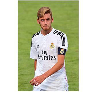 Sergio Molina, canterano del Real Madrid, durante un partido del Juvenil.