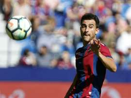 Levante defender Sergio Postigo is hoping to continue Madrid's poor league form this week. EFE