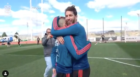 Ramos se ve a sí mismo... ¡como un put* animal! Captura/RFEF