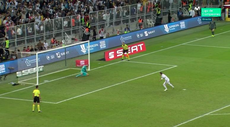 Sergio Ramos, sans trembler depuis les onze mètres. Captura/Movistar+