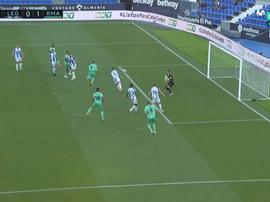 Sergio Ramos chega a seu gol de número 11. Captura/MovistarLaLiga