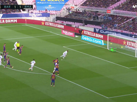 Ramos scored a penalty for Madrid. Screenshot/Movistar+LaLiga