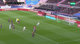 Ramos scored a penalty for Madrid. Screenshot/Movistar+LaLiga