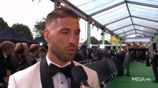Sergio Ramos at 'The Best' awards. Mega