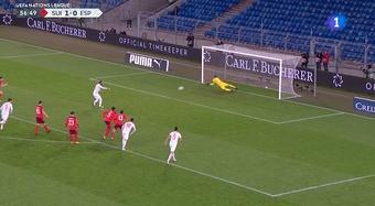 Ramos rate deux penaltys après 25 tentatives sans échouer. Capture/TVE