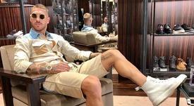 Ramos posó en una zapatería. Instagram