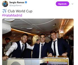 El Madrid piensa ya en el Mundial de Clubes. Twitter/SergioRamos