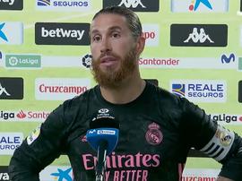 Sergio Ramos falou após o fim do jogo. Captura/MovistarLaLiga