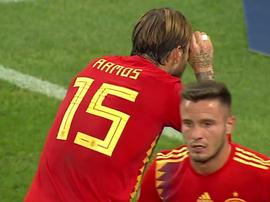 Pourquoi Ramos a été sanctionné après sa célébration ? Capture/TVE