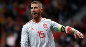 Ramos quer bater os pênaltis da Espanha. AFP