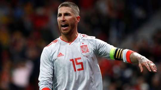 Ramos is eager to get one over on England on Monday. AFP
