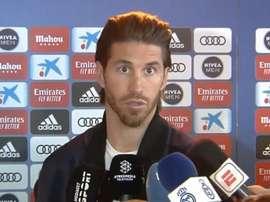 Ramos não deixou barato as palavras de Piqué. Captura/Movistar