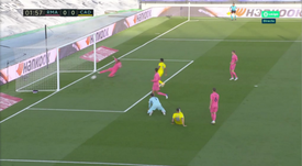 Sergio Ramos made an excellent off line clearence. Screenshot/MovistarLaLiga