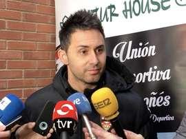 El entrenador de la UD Logroñés valoró la eliminatoria de Copa. Twitter/UDLogrones