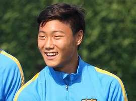 Seung-ho Paik debutó ayer con el Barcelona B. Twitter