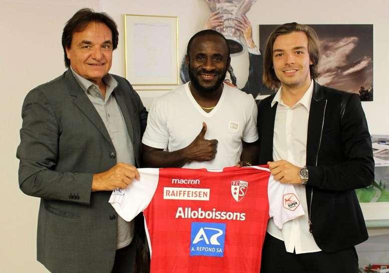 Doumbia llega como agente libre al Sion. Twitter/FCSion