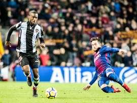 Shaq Moore tiene contrato con el Levante hasta 2020. Twitter/LevanteUD