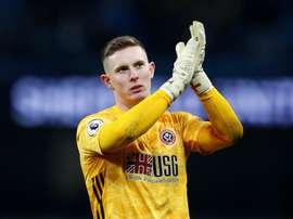 Dean Henderson agora atrai o interesse do Chelsea. EFE/EPA/LYNNE CAMERON