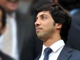 Sheikh Mansour est le propriétaire du Manchester City. AFP