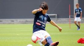 Shunsuke Nakamura, durante un entrenamiento del Yokohama Marinos. FMarinos