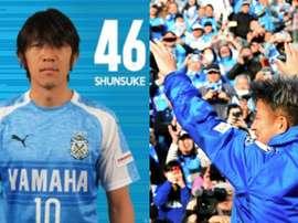 Nakamura et Miura, une attaque âgée de 93 ans. YokohamaFC/AFP