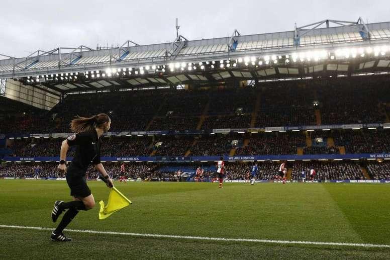Massey-Ellis se estrenó en el Community Shield, Supercopa Inglesa. AFP