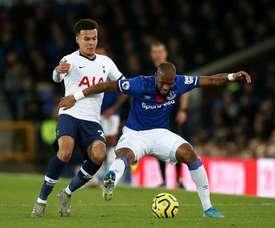 Everton e Tottenham empatam em jogo triste. Twitter/SpursOfficial