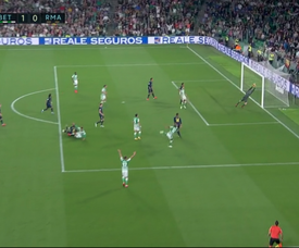 Sidnei marque le but du 1-0. Capture/MovistarLaLiga