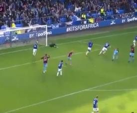 Sigurdsson scores for Everton against West Ham. Captura/beINSports