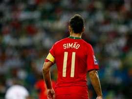 Simao Sabrosa, en un partido con la selección de Portugal. José Goulão