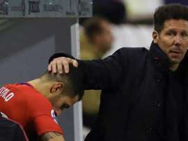Simeone has hardly played Vitolo since he was subbed off v Real Madrid in September. EFE