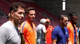 L'Atlético a rendu visite à son 'centre de formation' en Israël. Capture/Atleti