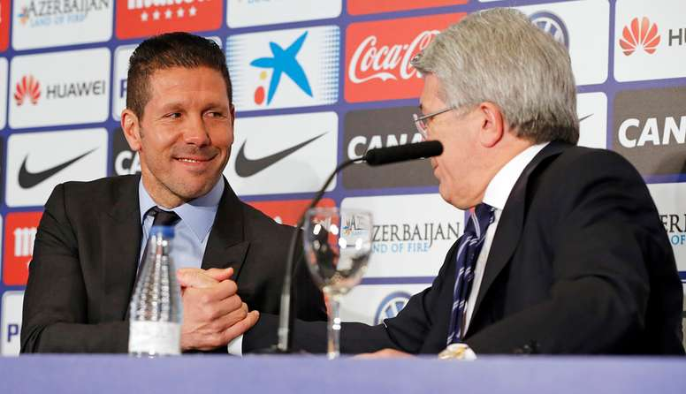 Cerezo is confident that Simeone and Griezmann will stay. ClubAtléticodeMadrid