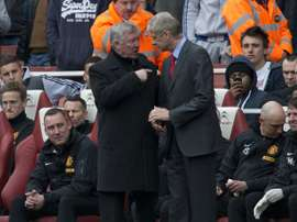 Ferguson and Wenger, rivals and friends. AFP