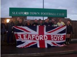 Sleaford Town supporters. SleafordTownFC